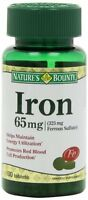 Nature's Bounty Iron 65 Mg Tablets 100 Tablets Each on sale