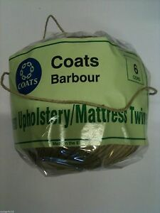 UPHOLSTERY-TWINE-COATS-BARBOUR-THREAD-N-3-4-6-Nylon-Buttoning-Twine-unbranded