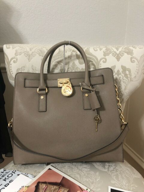 c9f4efb94576 Michael Kors Hamilton North South N/s 18k Large Dark Dune Tote for ...