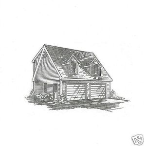 24x24 2 car td ld full shed loft inter stair garage for 24x24 garage plans with loft