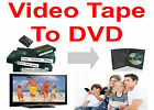 TAPE TRANSFER TO DVD * 25 VIDEO TAPES * VHS, VHS-C MiniDV, Hi8 * Convert To DVD