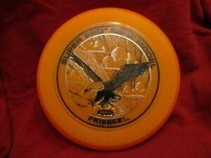 SUPER-PRO-133-G-MODEL-EAGLE-VINTAGE-1980-WHAM-O-FRISBEE-FLYING-DISC-RARE-ORANGE
