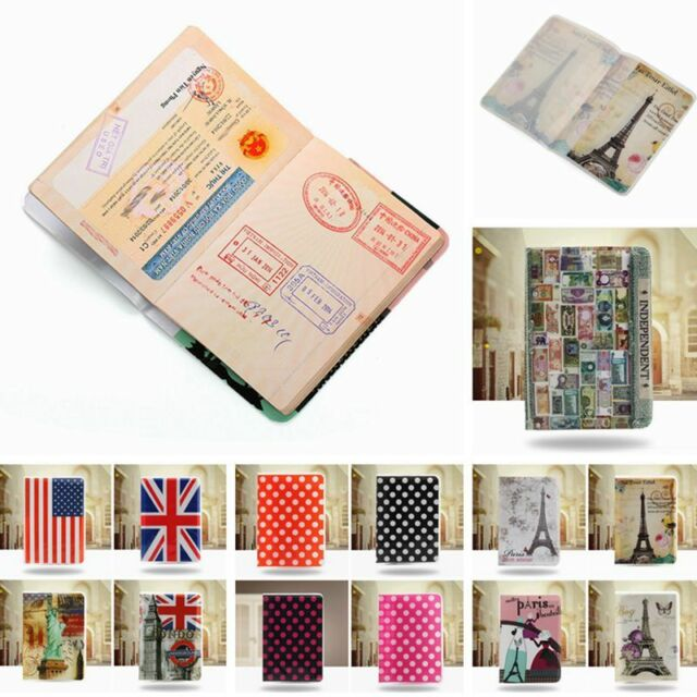 PVC Passport Holder Organizer Ticket Card Protector Cover Travel Case Document