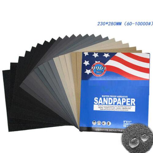 23x28cm Wet sec abrasif papier de verre 60 ~ 10000 Grit 996 un Imperméable De Papier Sable Feuille