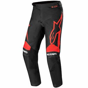 Alpinestars Racer Supermatic Motocross Pants Trousers Black / Bright Red UK 34