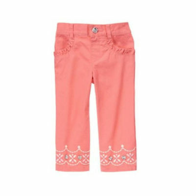 Bottoms Efficient Nwt Gymboree Snowflake Glamour Baby Girl Pink Embroidered Pants Sz 5t Elegant And Graceful