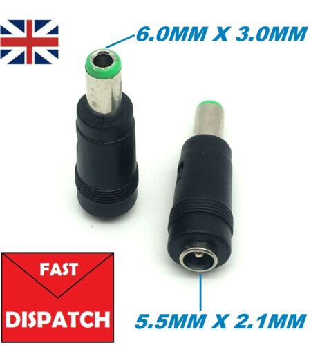 5.5mm x 2.1mm Female to 6.0mm x 3.0mm Male Plug Jack DC Power Adapter connector