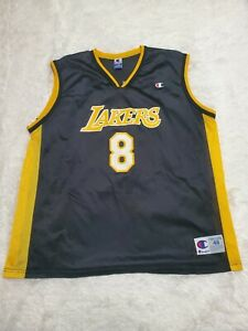 Details about Vintage Champion Mens Los Angeles Lakers Kobe Bryant Black Jersey #8 Size 48 XL