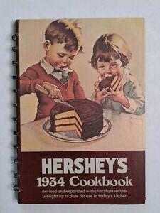 Vintage 1971 Revised Hersheys 1934 Chocolate Recipes Cook Book Hardcover spiral