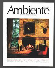Ambiente 6/83 6/1983 1983 Architektur, Kunst & Design Magazin