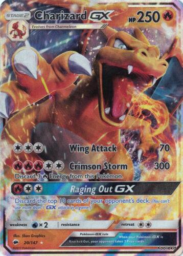 ULTRA RARE Brand NEW Charizard GX 20//147 S /& M Burning Shadows Pokemon Card TCG