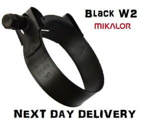 MIKALOR W2 Stainless Steel Hose Clamps//Supra//Exhaust//T Bolt//Marine Clip 1, 17-19mm