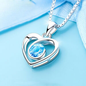 Delicate-Jewelry-Lover-Necklace-Crystal-Heart-Pendant-Birthday-Valentine-Gift