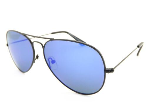 Blue Mirror 70498 NORTH BEACH Polarised Sunglasses CHAR Satin Black