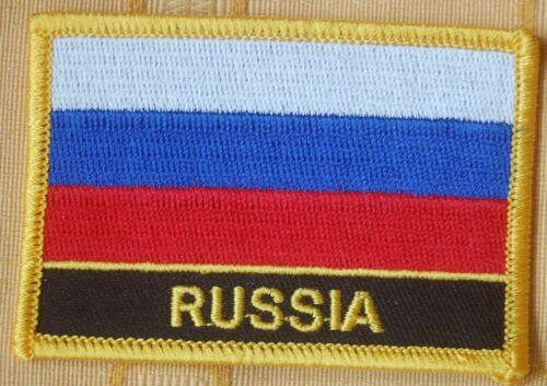 Russland  Aufnäher Aufbügler Patch Schrift Flagge