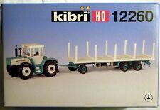 Kibri 12260: MB-Trac mit 3-achs Rungenanhänger, Bausatz in H0, N E U & O V P