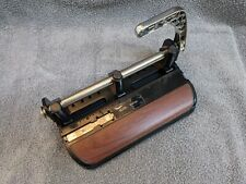 Vintage Acco Mutual 400 Heavy Duty Metal Adjustable 3 Hole Paper Punch