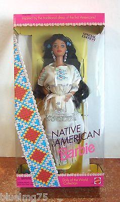 Z121 1997 Portrait in Blue Barbie African American NRFB