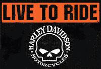 Harley Davidson Willie Skull Live To Ride Garden Flag Harley