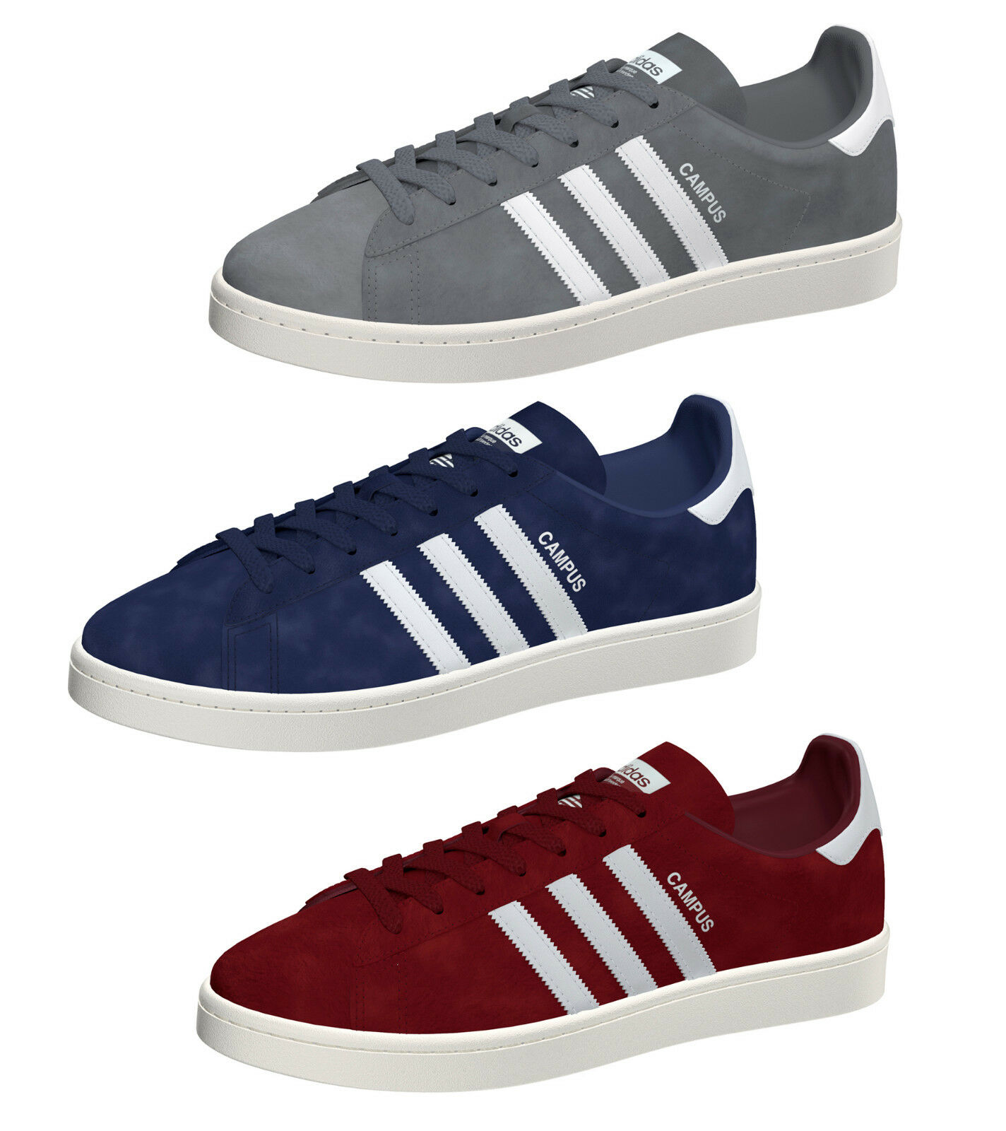 Gris Adidas Campus Zapatillas Azul Bordo Bz0086 Bz0085 Bz0087 New FKl1JTc
