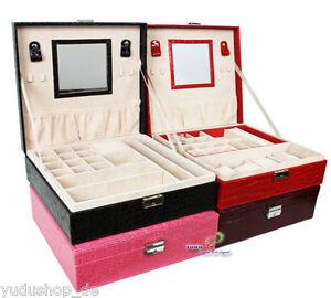 Schmuckkasten Schmuckkoffer Mit Versch. Fächern Uhrenkissen Nr:16810ab