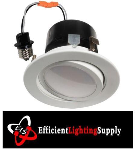 "4/"" RECESSED CAN LIGHT DIMMABLE LED RETROFIT KIT ADJUSTABLE GIMBAL 120V 4000K"