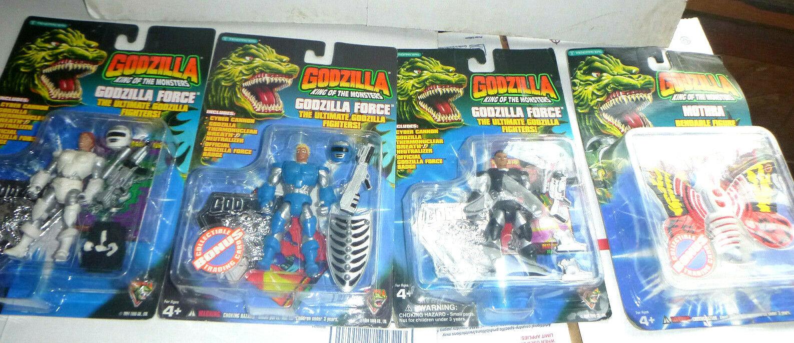 Nuevo Mothra & Fuerza De Godzilla Rey De Los montsers Lote de figuras de acción blancoo Negro