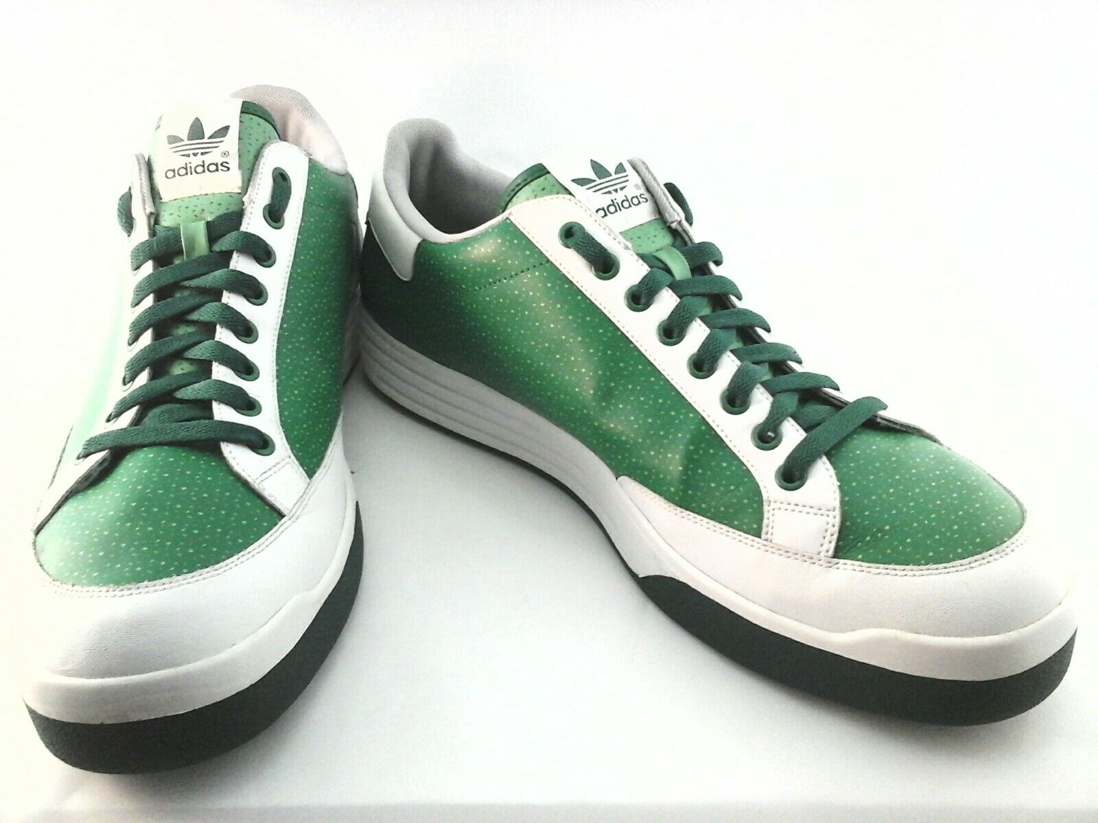 Adidas Rod Laver Mens 2008 Green White Sneakers Shoes US 15 /3 EUC  RARE
