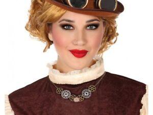 Collier-Rouages-STEAMPUNK-Accessoire-Deguisement-Femme-Victorien-NEUF-Pas-cher