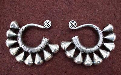 Guizhou Miao Silver Handmade earrings #2258