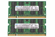 Samsung 4GB 2X 2GB 2RX8 PC2-5300S DDR2 667Mhz 200pin SO-DIMM Laptop Memory RAM