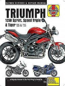 Triumph 1050 Sprint Tiger Speed Triple 2005 - 2015 Haynes Manual 4796 NEW