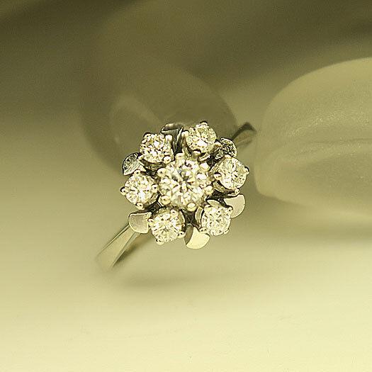 Schöner Ring mit 0,50ct TW-si Brillant in 585 14K whitegold Gr. 54