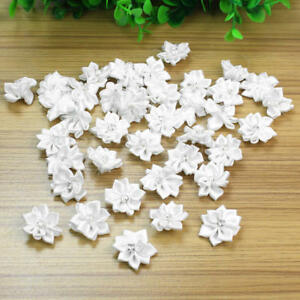 40Pcs-Satin-Ribbon-Flowers-Appliques-Craft-Wedding-Party-Sewing-DIY-Decor-White
