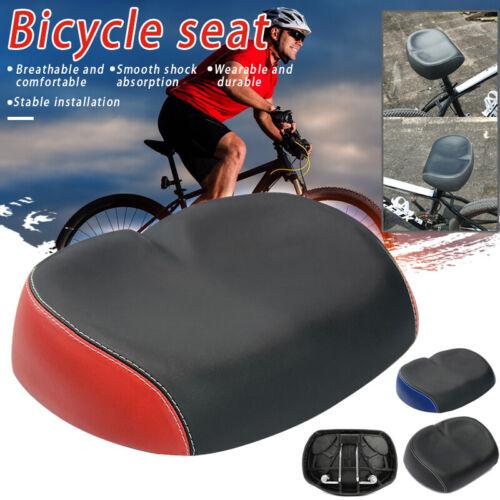 Comfort Wide Large Bum Bicycle Saddle Bike Soft Seat Cover PU Foam Pad Cushion