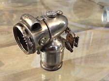 Vintage bicycle or motorcycle small acetylene gas lamp