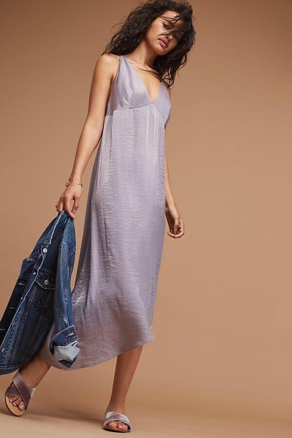 NEW Anthropologie Winnie Woven Slip Dress By Moulinette Soeurs Size Sz 00 Petite