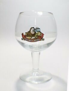 Samuel Adams Beer Glass Grumpy Monk Belgian IPA Goblet Gold Rim Boston MA USA