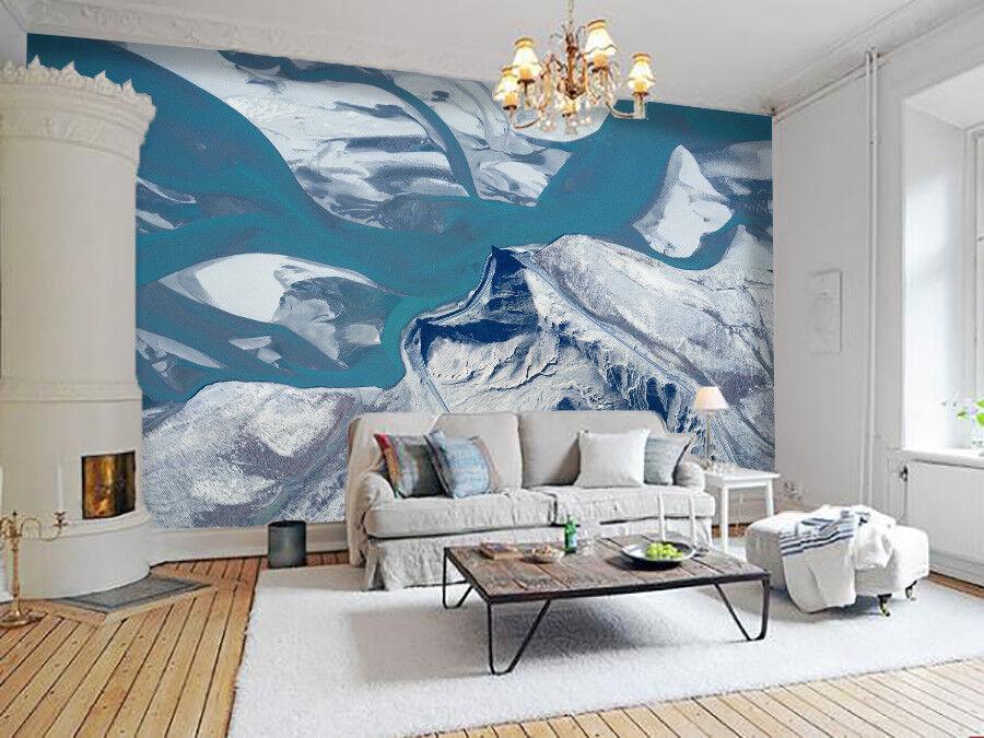 3D Malerischer Gletscher 68 Tapete Tapeten Mauer Foto Familie Tapete Wandgemälde