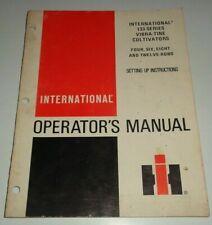 Ih International 133 Series Vibra Tine Cultivator Operators Manual Original Ihc