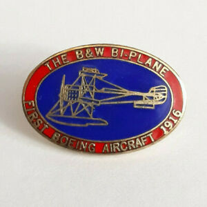 The-B-amp-W-Bi-Plane-First-Boeing-Aircraft-1916-Collector-Pin