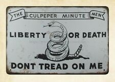 Don/'t Tread On Me Tin Metal Sign  Liberty or Death America NEW