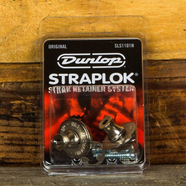 Dunlop SLS1101N Straplok Original Strap Retainer System Nickel