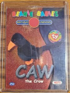 TY Beanie Baby Series 2 Birthday (SILVER) Trading Card - CAW the Crow