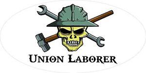 3-Union-Laborer-Skull-Oilfield-Roughneck-Hard-Hat-Helmet-Sticker-H326