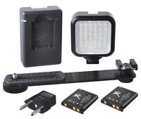 Light Led Kit With 2 Battery & Charger For Sony Dsc-hx200v Dsc-hx100v Dsc-h200