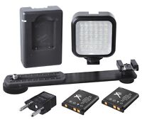 Array Of Led Light With 2 Battery & Charger For Panasonic Lumix Dmc-gm1 Dmc-gx7