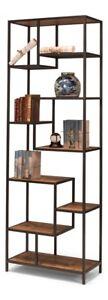 88 H Rosetta Bookcase Iron Reclaimed Wood Years Old Board Shelf