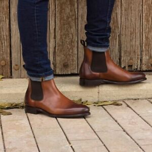 mens casual leather boots