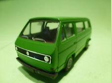 CONRAD 3066 VW VOLKSWAGEN T3 TRANSPORTER VAN BUS GREEN 1:43 - IN GOOD CONDITION